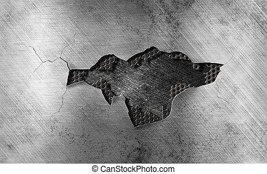 damaged metal grate background