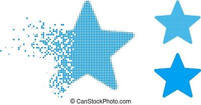 Damaged Pixel Halftone Star Icon