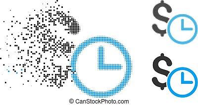 Damaged Pixelated Halftone Credit Icon