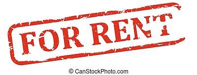 Damaged red stamp - for rent