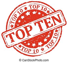 Damaged red stamp - top ten