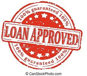 Damaged round red stamp - loan appr