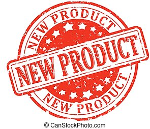 Damaged round red stamp - new produ
