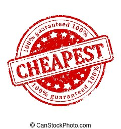 Damaged round stamp with inscription - cheapest 100% guarantee