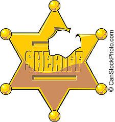 damaged sheriff star