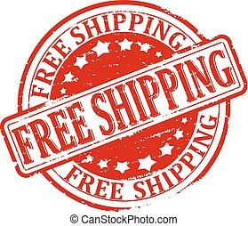 Damaged Stamp Red - Free Shipping