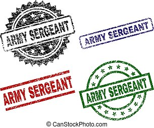 Damaged Textured ARMY SERGEANT Seal Stamps