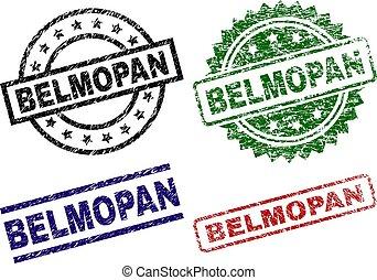 Damaged Textured BELMOPAN Seal Stamps