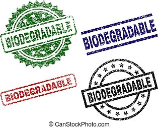 Damaged Textured BIODEGRADABLE Stamp Seals - BIODEGRADABLE...