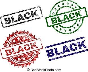 Damaged Textured BLACK Stamp Seals