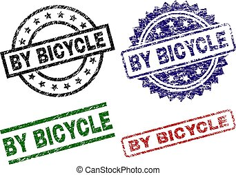 Damaged Textured BY BICYCLE Stamp Seals