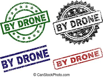 Damaged Textured BY DRONE Stamp Seals