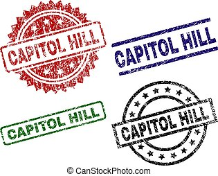 Damaged Textured CAPITOL HILL Stamp Seals - CAPITOL HILL...