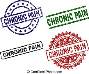 Damaged Textured CHRONIC PAIN Stamp Seals - CHRONIC PAIN...
