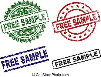 Damaged Textured FREE SAMPLE Stamp Seals