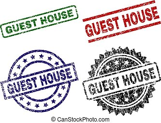 Damaged Textured GUEST HOUSE Stamp Seals - GUEST HOUSE seal ...