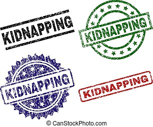 Damaged Textured KIDNAPPING Stamp Seals - KIDNAPPING seal ...