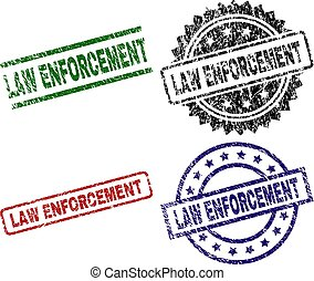 Damaged Textured LAW ENFORCEMENT Seal Stamps - LAW...