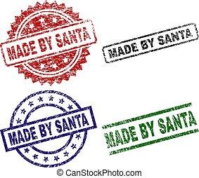 Damaged Textured MADE BY SANTA Stamp Seals