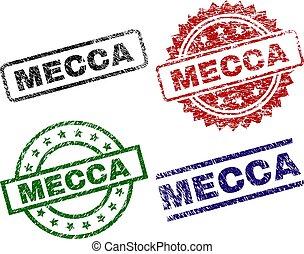 Damaged Textured MECCA Stamp Seals