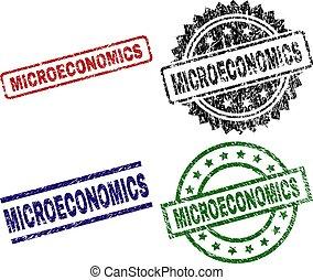 Damaged Textured MICROECONOMICS Seal Stamps - MICROECONOMICS...