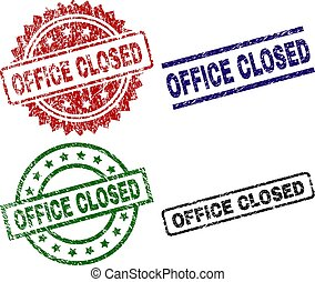 Damaged Textured OFFICE CLOSED Stamp Seals