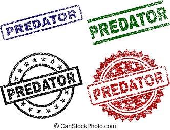 Damaged Textured PREDATOR Stamp Seals