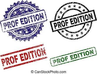 Damaged Textured PROF EDITION Stamp Seals - PROF EDITION...