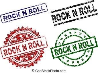 Damaged Textured ROCK N ROLL Stamp Seals