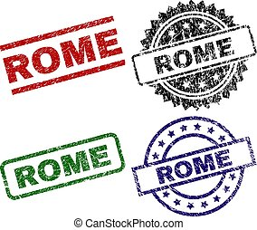 Damaged Textured ROME Seal Stamps