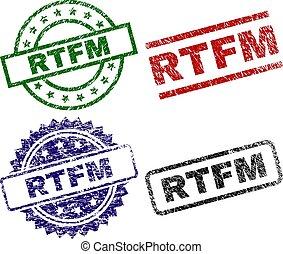 Damaged Textured RTFM Stamp Seals