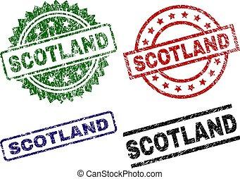 Damaged Textured SCOTLAND Stamp Seals