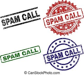Damaged Textured SPAM CALL Stamp Seals