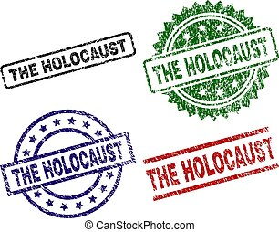 Damaged Textured THE HOLOCAUST Seal Stamps
