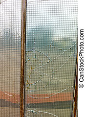 damaged window glass