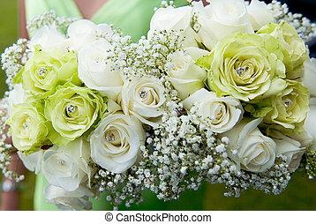 damas de honor, boda, ramos
