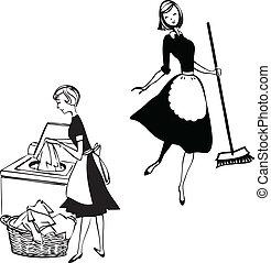 damas, limpieza