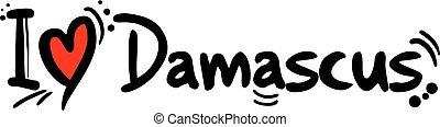 damasco, città, siria, amore, messaggio