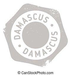damasco, francobollo, gomma, grunge