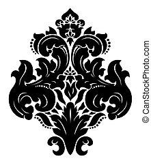 damasco, pattern., vector.