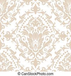 damasco, seamless, padrão, element.