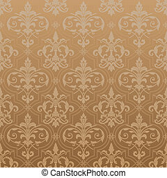 damasco, seamless, papel parede