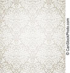 damasco, seamless, patrón floral