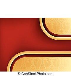 damasco, seamless, plano de fondo, con, rojo, copyspace