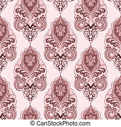 Damascus pattern in pink tones on a light background