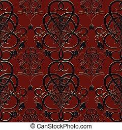 Damask Baroque seamless pattern.