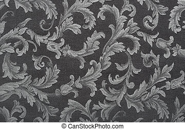 Damask, black fabric background