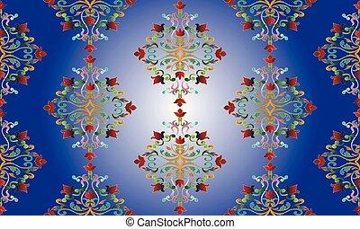 Damask colorful seamless pattern