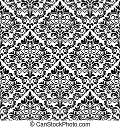 Floral seamless damask pattern for background design