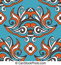 damask floral vintage vector seamless design